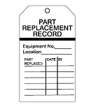 Equipment Inspection Tags - Part replacement record-256510