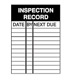 Inspection Placards - Inspection Record-256907