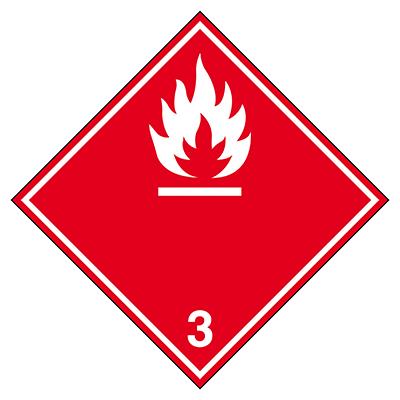 Aufkleber für den Transport gefährlicher Güter - Entzündbare flüssige Stoffe-ADR 3B-297*297-B7525