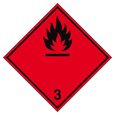 Aufkleber für den Transport gefährlicher Güter - Entzündbare flüssige Stoffe-ADR 3-297*297-B7525