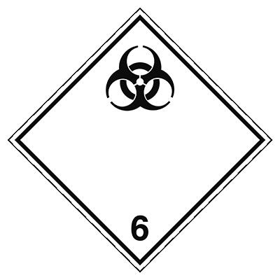 Aufkleber für den Transport gefährlicher Güter - Ansteckungsgefährliche Stoffe-ADR 6.2-297*297-B7525