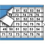 Draadmerkersymbolen op kaart-WM-49-96-TM-PK