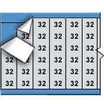 Draadmerkernummers op kaart-AF-32-PK