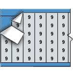 Draadmerkernummers op kaart-AF-9-PK