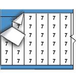 Draadmerkernummers op kaart-WM-7-PK