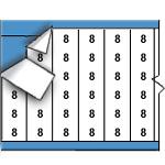 Draadmerkernummers op kaart-TWM-8-PK