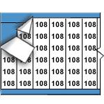 Draadmerkernummers op kaart-WM-108-PK