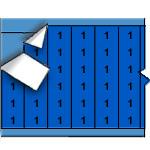 Draadmerkernummers op gekleurde achtergrond op kaart-WM-1-BL-PK
