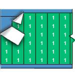 Draadmerkernummers op gekleurde achtergrond op kaart-WM-1-GR-PK