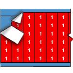 Draadmerkernummers op gekleurde achtergrond op kaart-WM-1-RD-PK