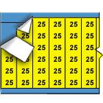 Draadmerkernummers op gekleurde achtergrond op kaart-WM-25-YL-PK
