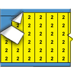 Draadmerkernummers op gekleurde achtergrond op kaart-WM-2-YL-PK