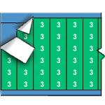 Draadmerkernummers op gekleurde achtergrond op kaart-WM-3-GR-PK