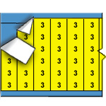 Draadmerkernummers op gekleurde achtergrond op kaart-WM-3-YL-PK