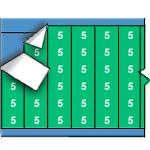 Draadmerkernummers op gekleurde achtergrond op kaart-WM-5-GR-PK