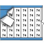 Draadmerkernummers op kaart-WM-74-PK
