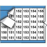 Opeenvolgende draadmerkernummers op kaart-WM-150-174-PK