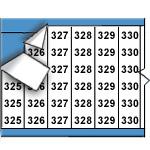 Opeenvolgende draadmerkernummers op kaart-WM-325-349-PK