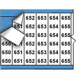 Opeenvolgende draadmerkernummers op kaart-WM-650-674-PK