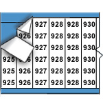 Opeenvolgende draadmerkernummers op kaart-WM-925-949-PK
