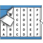 Opeenvolgende draadmerkerletters op kaart-WM-A-Z,A-J-PK