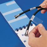 Porta-Pack Hefte mit Kabelkennzeichnungsetiketten–Beschriftbare, selbstlaminierende Kennzeichnungsetiketten-PWC-PK-3