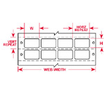 Blank, printable polyester labels for Dot Matrix printers.