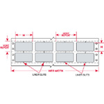DaTab Dot Matrix Printable Labels-DAT-48-969-10