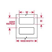 Thermal Transfer Printable Labels-BPT-11-8423-2.5(T)