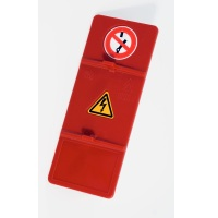 Low Voltage NV Fuse Rails with symbols, Do Not Switch and Warning Electricity