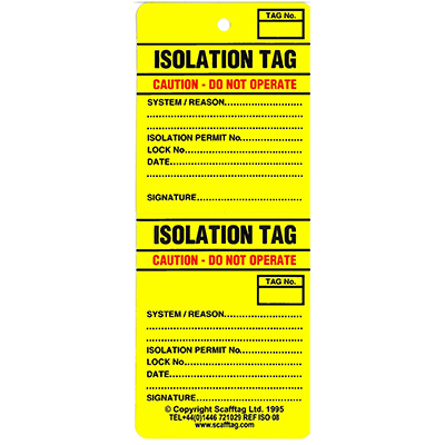 Isolation Tag-ISO 08