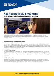BradyPrinter A5500 automates cable flagging