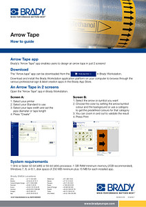 Arrow Tape How To Guide / Workstation - English
