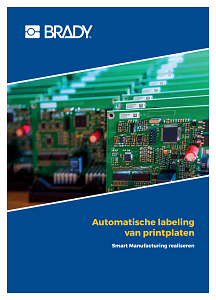 Automated printed circuit board labelling brochure - Dutch