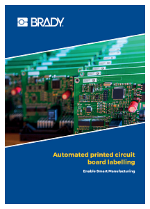Automated printed circuit board labelling brochure - English