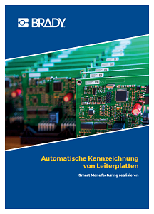 Automated printed circuit board labelling brochure - German