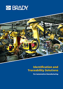 Brochure regarding identification solutions in the automotive industry. English version only.