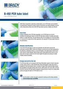 B-492 PCR tube label Sellsheet - English