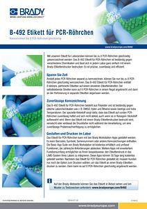 B-492 PCR tube label Sellsheet - German