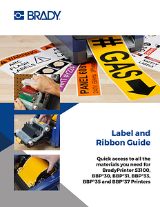 B30 and B33 label material and ribbon supply guide / list