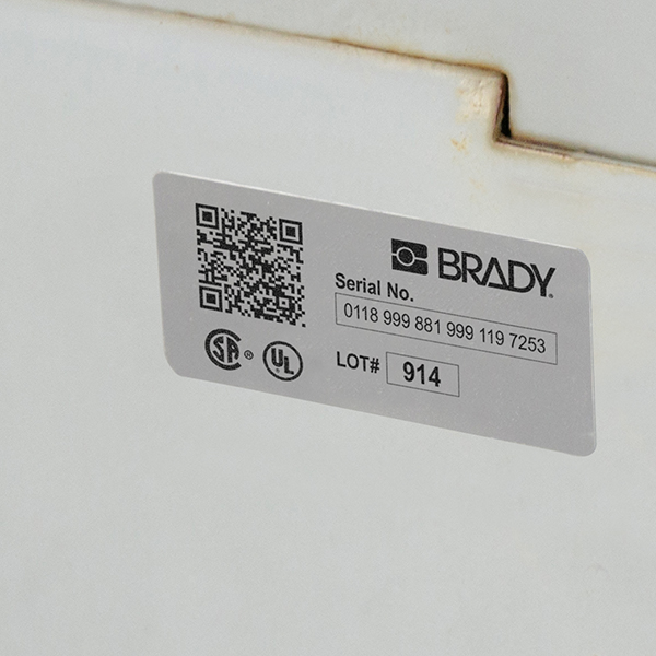 Metallised Polyester Labels for the BBP33 Printer-B33-6-7563