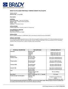 B410 Laser Printable Tamper Evident Polyolefin