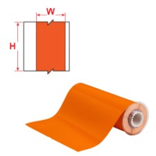 BBP85 Tape - 250mm Orange reflective-B85-250x10M-584-OR