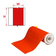 BBP85 Tape - Vinyl 100 mm Red-B85-100x15M-595-RD