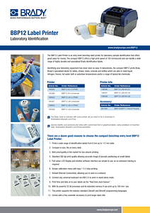 BBP12 Sell Sheet Lab Version in English
