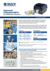 BBP12 Sellsheet Lab Version in French
