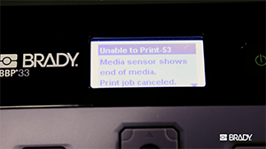 How to address common error messages on your BBP30 or BBP33 printer