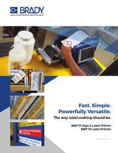 BBP31-33 Printer Brochure