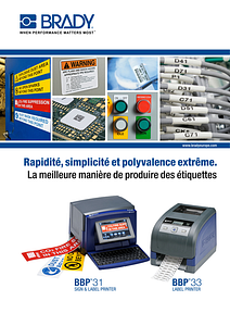 BBP31 and BBP33 Printer Brochure - French