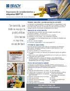 Hoja informativa de la impresora de señalamientos y etiquetas BBP31